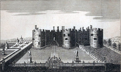 The gates at Chirk Castle in 1772